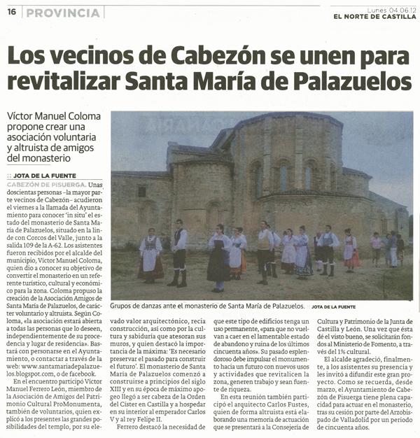 Revitalizar el Monasterio de Palazuelos
