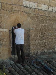 Malla en el Monasterio de Palazuelos